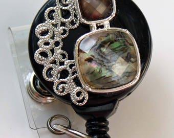 Filigree and Stones badge reel