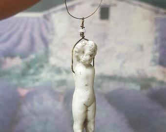 Vintage Bisque Doll Necklace