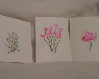 Set of Three: Flowers