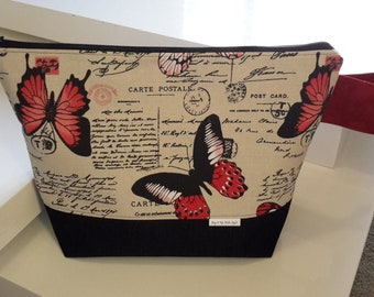Project Bag, Extra Large Zippered Wedge, Knitting Bag