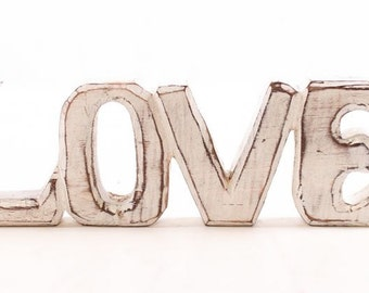 Love Carved Wooden Sign