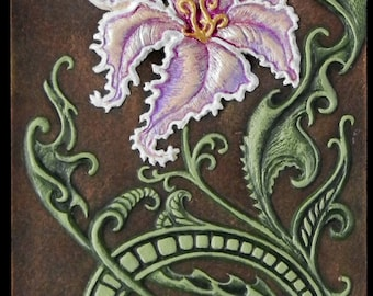 Loch Lomond Lily - Cast Paper - Celtic art - Scottish art - Gaelic - Scotland