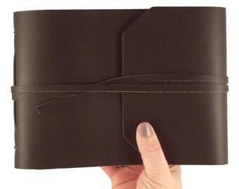 Vintage Album, Scrapbook Album, Rustic Photo Album, Small Photo Album, Photo Book, Small Scrapbook, Leather Photo Album, Leather Scrapbook