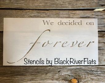Forever Stencil/reusable stencil/7mil Mylar/farmhouse decor stencil/plastic stencil/wood sign /wall stencil/diy wood sign stencil/ love sign