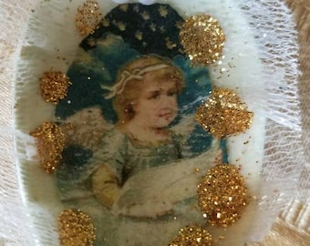 Angel Altered Spoon Wall Hanging/Ornament