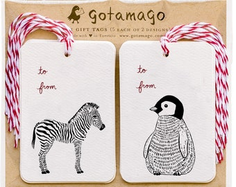 Baby Animal Gift Tags, Set of 10