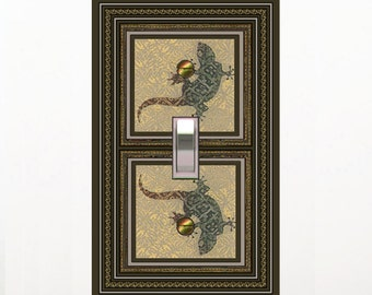 0235x-Velvet Lizards  light switch plate - - mrs butler switchplates -choose sizes/prices from drop down box-ck out velvet frogs