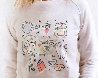 Illustrated sweatshirt-Sweatshirt Spring Edition