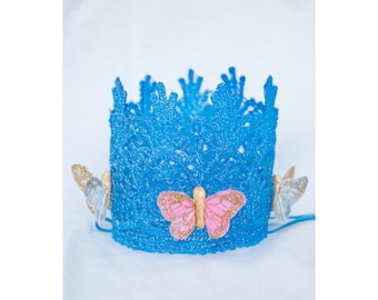 Truly a Princess Cinderella themed crown, Cinderella crown, Butterfly crown, princess crown, birthday princess, birthday princess crown
