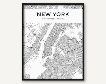 London Map Print London Poster London Wall Art London City - New york city map wall art