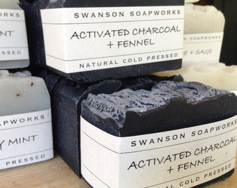 Activated Charcoal, All Natural Soap, Handcrafted Soap Bars