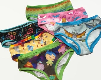 Mystery 6 pack Girls Hipster Underwear Sizes 1/2 - 14