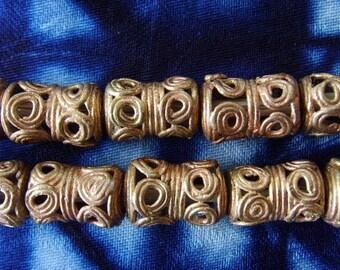 8 beads African brass BB12