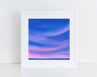 "Ocean Sunset PRINT of original painting ""Before We Say Goodbye""   sunset painting print, sunset print, bedroom decor, seascape, ocean art"