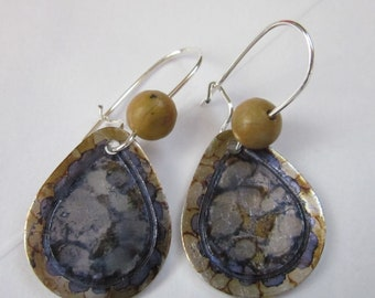 Metallic River Earrings