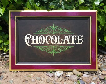 Chocolate art hand painted wall decor