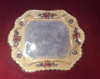Grimwades Chelsea Pattern Hand Painted 1920's Sandwich Plate/Cake Plate