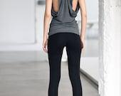Arya Yoga Tank Top/ Yoga Clothes/ Butterfly Grey Top/ Yoga Top/ Racer Back Tank by AryaSense/ TBFL14NG