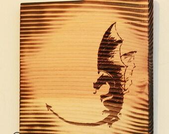 Hemlock - Engraved Dragon Wall Hanging