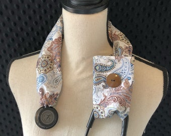 Stethoscope Cover, Nurse Graduation, Stethoscope Accessory, Registered Nurse, RN, Doctor, Vet tech, Nurse Gift - Paisley