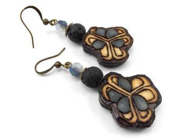 Allium Seed Pod Earrings - Handmade & Eco-friendly