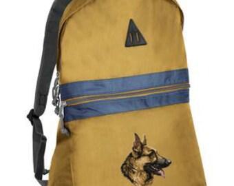German Shepherd embroidered backpack