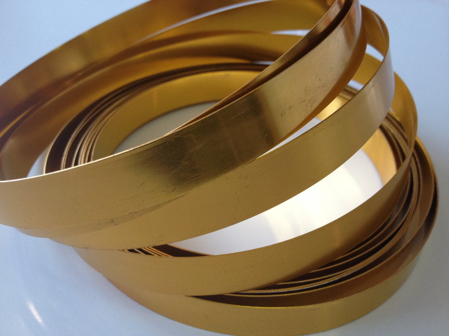 Wide Gold Flat Wire (1/2 in wide x 15 ft long), gold wire, flat wire ...
