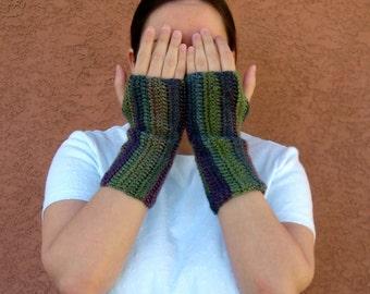 Echo Fingerless Gloves, Grey, Green, Pink Unforgettable Fingerless Gloves for Women, Crochet, Crocheted Arm Warmers, Fingerless Mittens