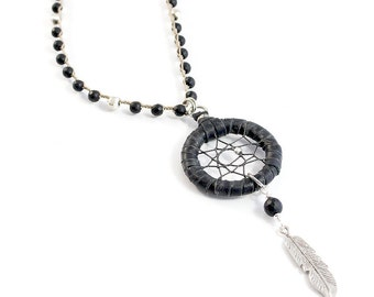 Astrid Necklace (Black/Silver)