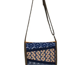 Crossbody Bag, Vegan Purse, Blue Purse, Gift for Women, Teen Purse, Zipper Purse, Fabric Handbag, Cross Body Purse