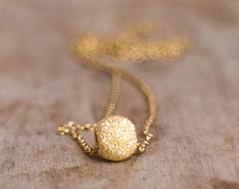 Gold Ball Sparkling Necklace