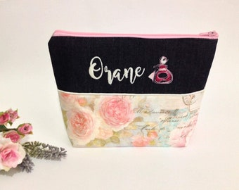 Personalised gift, makeup bag, beauty bag, personalised pouch, zipper pouch, organiser, gift for her