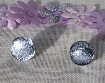 Dichroic glass earrings silver studs wedding bride bridesmaid birthday anniversary Christmas Mothers Day gift for her wife girlfriend sister