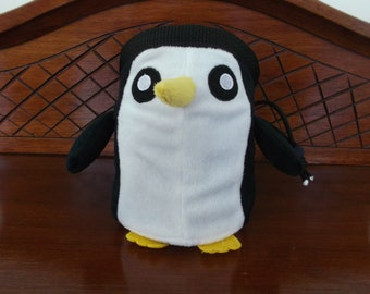 Penguin Rock Climbing Chalk Bag made from a child's plush toy