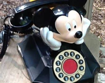 Vintage Mickey Mouse Desk Telephone Phone