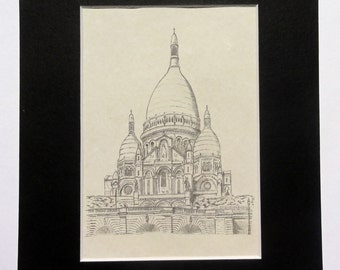 Sacre Coeur Pencil Drawing
