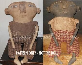 Boy epattern-NOT DoLL, doll Crows Roost Prims 361e Primitive Harold Puddles epattern immediate download