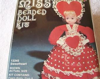 Vintage 1979 Li'l Miss beaded doll kit Sweetheart doll mint sealed unused 13345