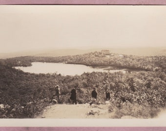 Vintage Photo, Lake Marcia, High Point, State Park, New Jersey, Sussex, History, Mountains, Forest, Woods, Nature, Man, Hat, Landscape, USA