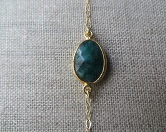 Emerald Slice Gold Bracelet