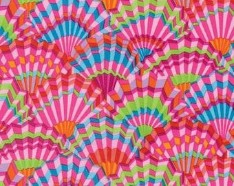 Kaffe Fassett Paper Fans Pink Fabric 1 yard
