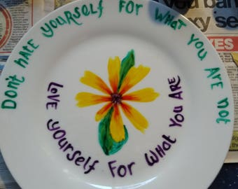 Ceramic plate hand painted.