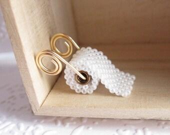 Toilet Paper hand beaded Pendant, PENDANT ONLY