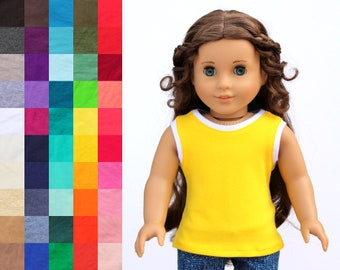 Fits like American Girl Doll Clothes - Athletic Tank Top, You Choose Colors | 18 Inch Doll Clothes
