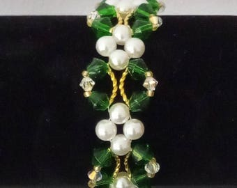 Pearl and Crystal Bracelet 0012