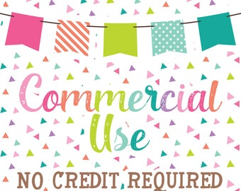UNLIMITED - Commercial Use No Credit Required for Clipart & Digital Papers