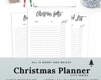 Holiday Agenda Christmas Planner Holiday Organizer Printable Holiday Planner Letter A4 A5 | PHCH-1200-A, INSTANT DOWNLOAD