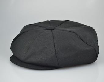 Linen Applejack Newsboy Cap Hat Various Colors Made in USA