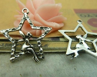 15pieces 28MMx25MM  Angel Elf  charm- antique silver Charm Pendant