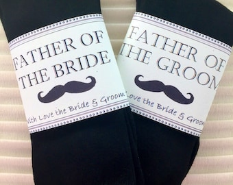 "Fabulous ""Father of the Bride"" and/or ""Father of the Groom"" Wedding Gift Socks With Love from the Bride & Groom"